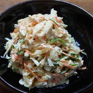 千切り野菜のツナ入りコールスロー風サラダ