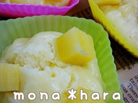 【HM】【離乳食後期】薩摩芋のヨーグルト蒸しパン