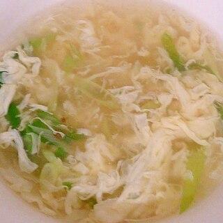 長ネギと卵のとろとろ中華スープ