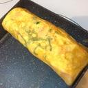 大葉とハムの卵焼き