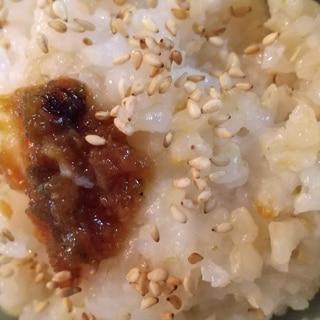 ふきみそをのせた玄米ご飯
