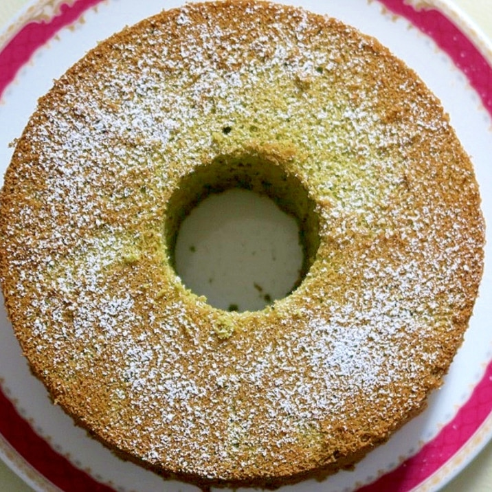 米粉の抹茶シフォンケーキ(グルテンフリー)