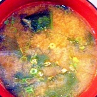 刺身の海老殻で♪海老だし味噌汁