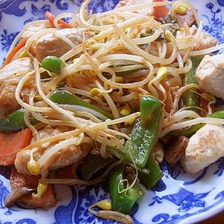 豆モヤシで❤鶏むね肉の炒め物♪(にんにく醤油)