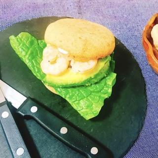 【糖質制限】海老アボカドのおからパンバーガー