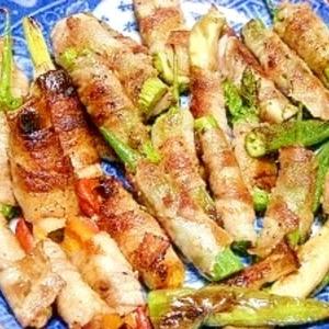 BBQにもオススメ☆豚トン巻き巻き野菜