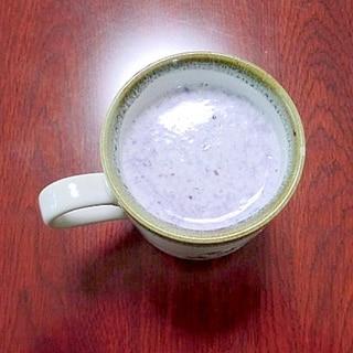 レンジで簡単★ホット♪ブルーベリーミルク