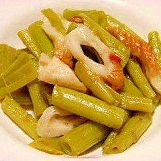 食べ頃です!フキノトウの茎の煮物