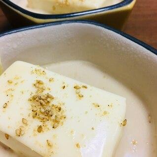 レンチンで☆とろーりチーズの湯豆腐