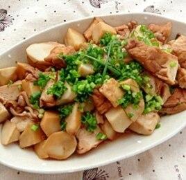 里芋と厚揚げのバルサミコ醤油煮