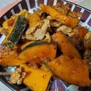 豚肉とかぼちゃのハニーマスタードソース炒め