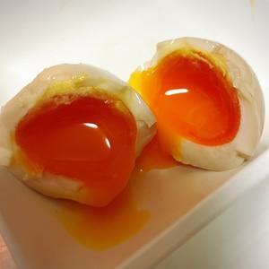 めんつゆだけで簡単♪とろ〜り半熟煮卵