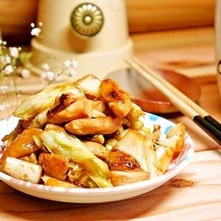 漬け込みラクチン☆鶏胸肉の生姜入りめんつゆマヨ炒め