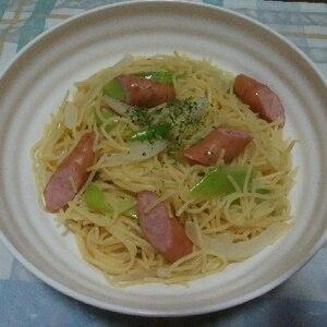 簡単☆玉ねぎとウインナーのスパゲティ
