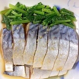 大根の葉としめ鯖の和え物