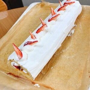 基本のロールケーキ(米粉ロールケーキ)