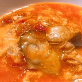 牡蠣とトマトのおかずスープ