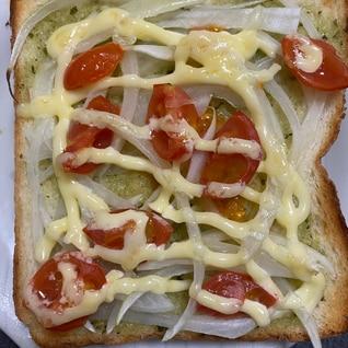 バジル&野菜トースト