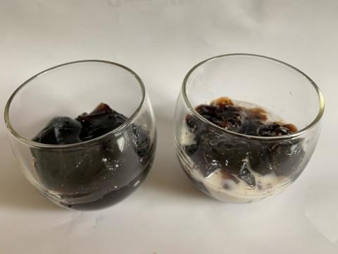 激安コーヒーパック1リットルで作るコーヒーゼリー