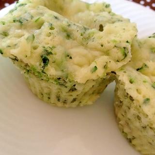 レンジで速攻♪ほうれん草&チーズ蒸しパン