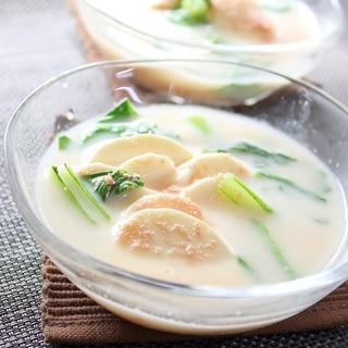 モッツァレラチーズとたらこの冷製スープ