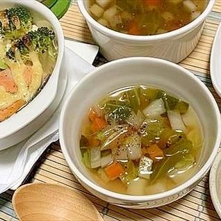 ホールでお野菜買った日限定☆モッタイナクナイスープ