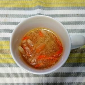 ゆで豚の煮汁で☆野菜たっぷりスープ