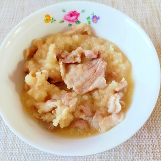 15分で☆豚肉のおろし玉ねぎ煮