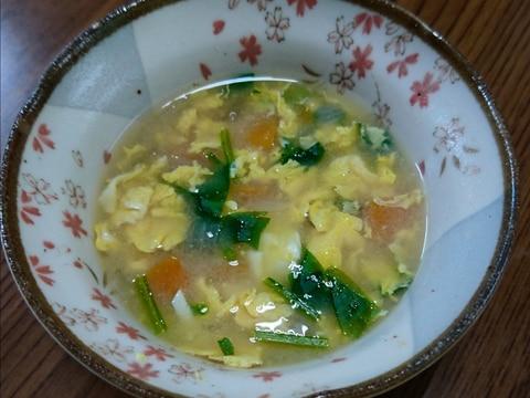 離乳食完了期 1歳 子供も食べれる野菜と卵の味噌汁