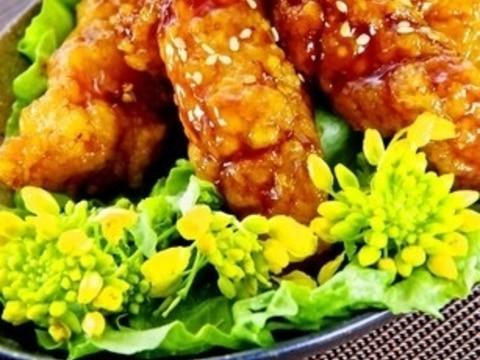 鶏胸肉で簡単♪手羽風揚げない甘辛照焼チキンお弁当に