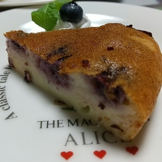 ヨーグルトブルーベリーチーズケーキ