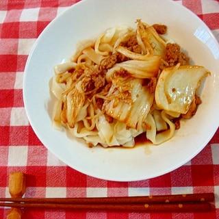 きしめんで汁なし担担麺(簡単・本格)