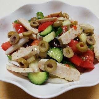 ローストサラダチキンと野菜のイタリアンサラダ