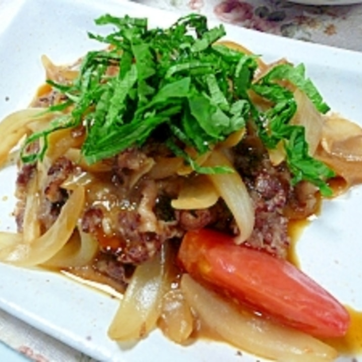 牛肉トマト炒め:しそ風味