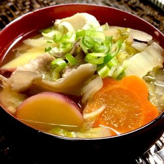秋の具沢山味噌汁❤️食べる味噌汁栄養満点