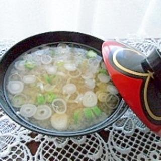 おくらの味噌汁