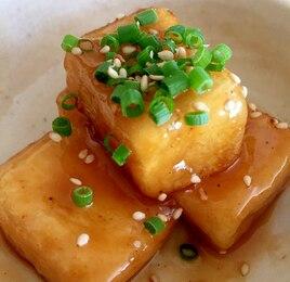 高野豆腐の揚げ照りマヨ