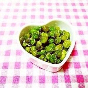 母の作るグリーンピースの甘煮