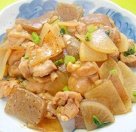 大根と鶏肉こんにゃくの炒め煮