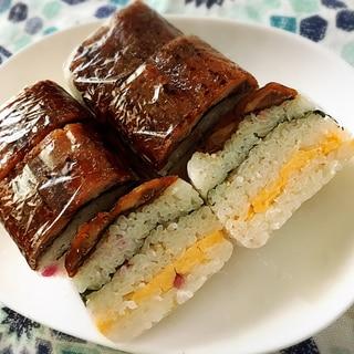 サンマの蒲焼きで簡単、節約押し寿司❣️