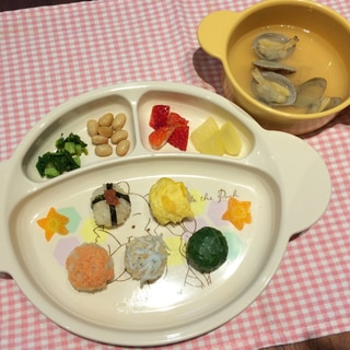 雛祭り♡1歳の娘に手まり寿司
