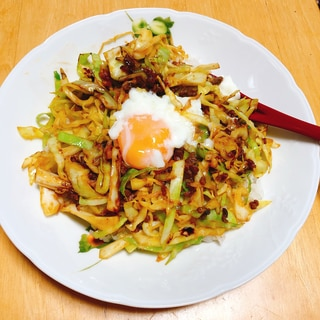 肉味噌キャベツ飯。野菜たっぷりで子供が喜ぶ夕飯