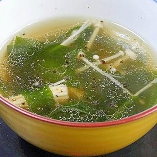 豚の茹で汁をremake☆「わかめスープ」