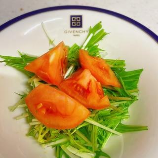 水菜トマトの中華サラダ✨