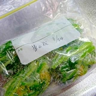 菜の花の茹で方:保存方法(冷凍・冷蔵)