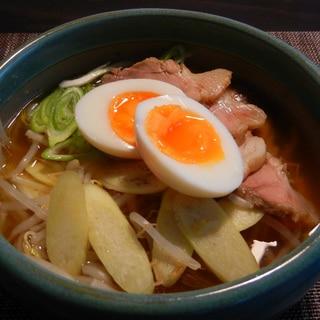 マコモダケの醤油ラーメン
