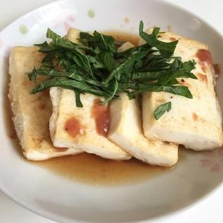 大葉のせさっぱり豆腐ステーキ~梅ソース~