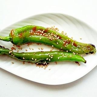 土佐甘とうの味噌炒め