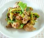 超簡単おかず☆煮豚とセロリのマヨネーズ炒め☆