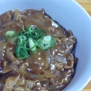 麺つゆで簡単、蕎麦屋のカレー丼